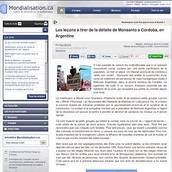 Les leçons à tirer de la défaite de Monsanto à Córdoba, en Argentine