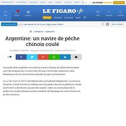 Argentine: un navire de pêche chinois coulé