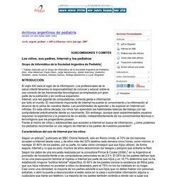 Archivos argentinos de pediatría - Los niños, sus padres, Internet y los pediatras