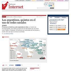 Los argentinos, quintos en el uso de redes sociales