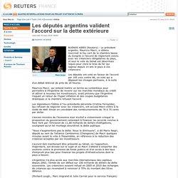 Les députés argentins valident l'accord sur la dette extérieure