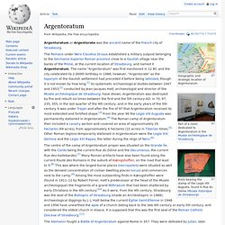 Argentoratum (Wikipedia)