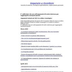 Argomenti trattati nel 2011