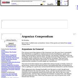 Argonian Compendium