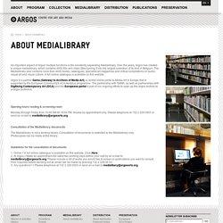 ARGOS centre for art and media