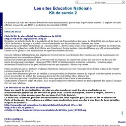 Argos : les sites institutionnels. Kit de survie