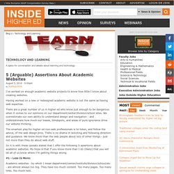 5 (Arguable) Assertions About Academic Websites