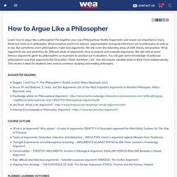 How to Argue Like a Philosopher - WEA Sydney