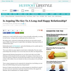 Is Arguing The Key To A Long And Happy Relationship?