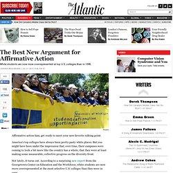 The Best New Argument for Affirmative Action - Jordan Weissmann