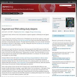 Argument over RNA editing study deepens