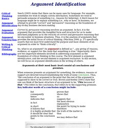 Argument Identification