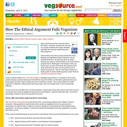 How the ethical argument fails veganism