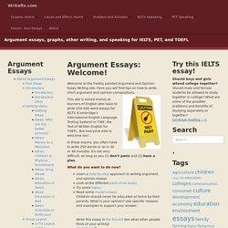 Argument Essays: Welcome! – Writefix.com