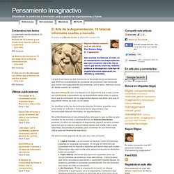 El Arte de la Argumentación. 19 falacias informales usadas a menudo.