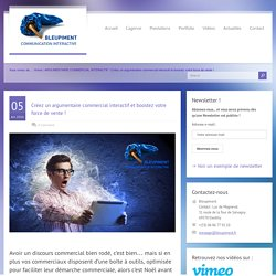 Créez un argumentaire commercial interactif et boostez votre force de vente ! - BLEUPIMENT - Lyon : site web, charte graphique web, bannière web, application interactive, web design