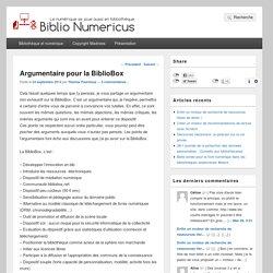 Argumentaire pour la BiblioBox