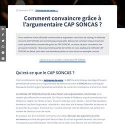 Argumentaire CAP SONCAS : comment l'utiliser ?