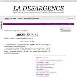 ARGUMENTAIRE - LA DESARGENCE