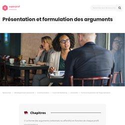 Formation argumentation et solution : forme et expression de l'argumentation