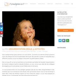 Argumentation orale, 5 activités