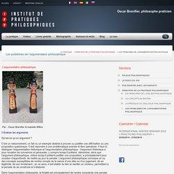 Les problèmes de l'argumentation philosophique – Institut de pratiques philosophiques