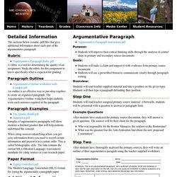 Argumentative Paragraph - Door24.org