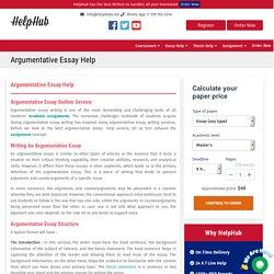 Argumentative Essay Help online