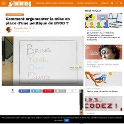 Comment argumenter la mise en place d'une politique de BYOD