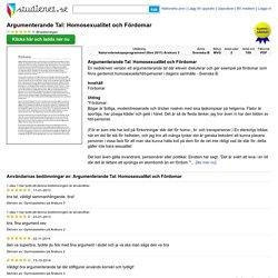 Debattämne fördomar, Studienet.se