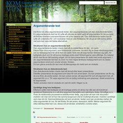 Argumenterande text - Genre på sfi i Norrköping