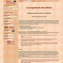Arguments des athées