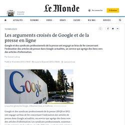 Les arguments croisés de Google et de la presse en ligne