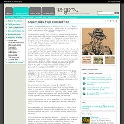 Arguments over conscription