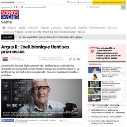 Argus II : l'oeil bionique tient ses promesses