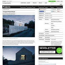 Dekleva Gregoric Arhitekti — Compact Karst House