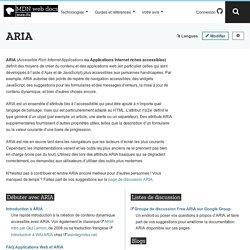 ARIA - Accessibilité
