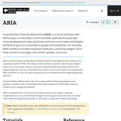 ARIA - Accessibility