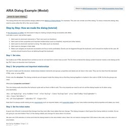 ARIA Dialog Example