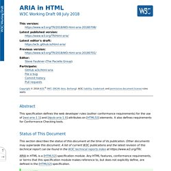 ARIA in HTML