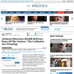 Huff TV: Arianna Discusses Health Reform, State Of The Nation: '