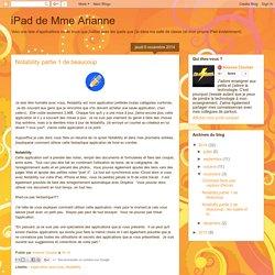 iPad de Mme Arianne: Notability partie 1 de beaucoup