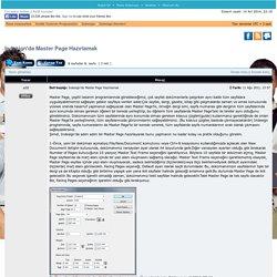 Arıbilgi Forum - Indesign'da Master Page Hazırlamak : Indesign Dersleri