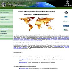 CGIAR-CSI Global Aridity and Global PET Climate Database