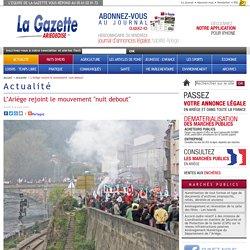 """L'Ariège rejoint le mouvement """"nuit debout"""""""