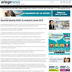 Assemblé Générale ACAST du vendredi 6 Janvier 2012