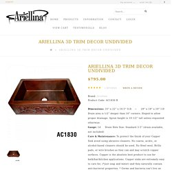 Ariellina 3D Farmhouse 14 Gauge Copper Kitchen Sink Lifetime Warranty New AC1830