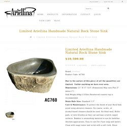 Limited Ariellina Natural Rock Stone Sink Oval Handmade Lifetime Warranty AC760