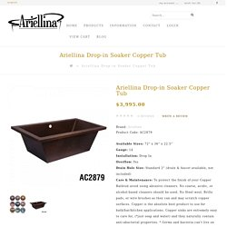 Ariellina Drop-in Soaker Copper Tub AC2879
