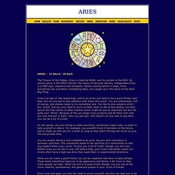 ARIES SIGN OF THE ZODIAC HOROSCOPE